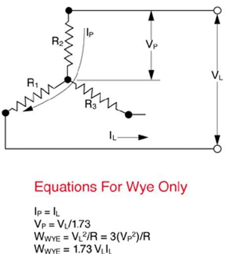 Delta Wye Circuit Equations Watlow
