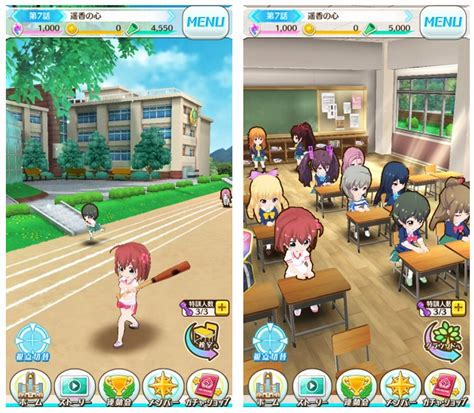 Anime Game High School Colopl 3668 Mobile Game Japan Battle Girl High School バトル