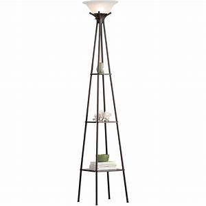 mainstays floor lamp home design ideas and pictures With mainstays shelf floor lamp black finish