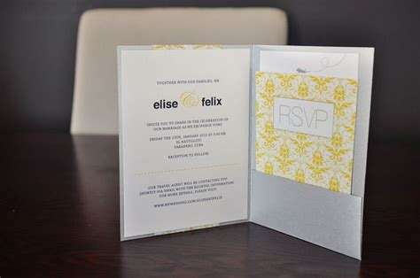diy pocketfold invitation   card diy wedding