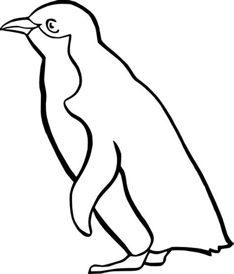 penguin clipart black and white penguin outline clip at clker vector clip