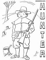 Hunter Coloring Pages Print Hunter4 sketch template