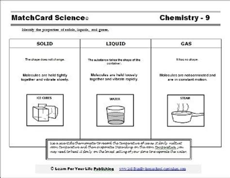 identifying states of solid matter worksheet our solid liquid gas worksheet tells what the molecules