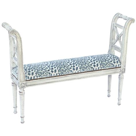 narrow upholstered bench narrow neoclassical style window seat bench for at