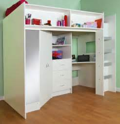 Wardrobe With Drawers Underneath stamford high sleeper bed white in 2019 home high
