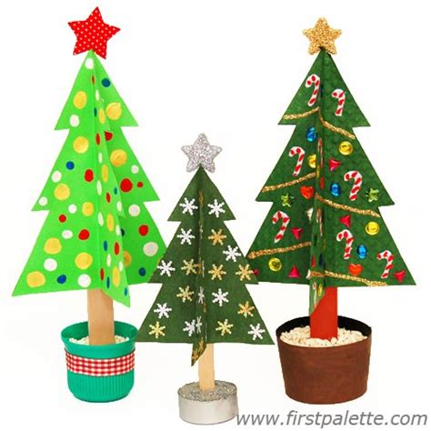 craft stick christmas tree craft kids crafts
