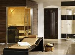Diy Sauna In Bathroom by European Bathroom Idea Finnish Sauna Plus Tanning And Fitness