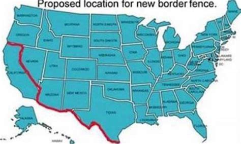 proposed location  trumps  border fence