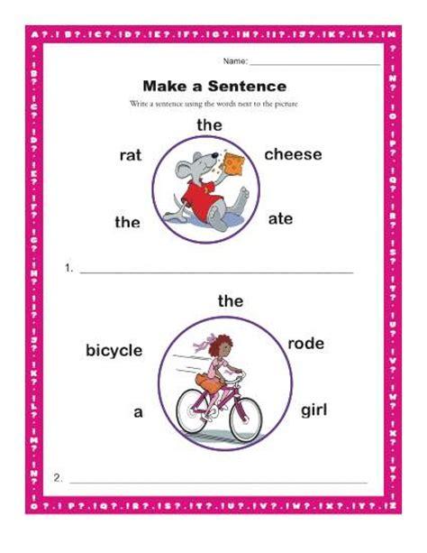 make a sentence kindergarten and 1st grade sentence
