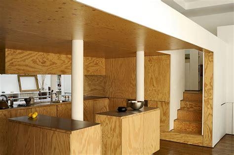 plywood  interior layout  pleasantly heat wood