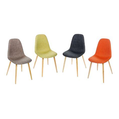 chaises de couleur lot de 2 chaises inspiration scandinave couleur gris pieds