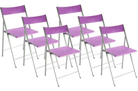 chaise pliantes lot de 6 chaises pliantes violettes bilbao chaise