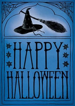 vintage halloween happy halloween fine art print  sara