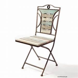 Stuhl Vintage Weiß : metall stuhl vintage h 92cm wei grau wash ~ Pilothousefishingboats.com Haus und Dekorationen