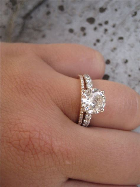 wedding band and engagement ring which one goes engagement ring usa