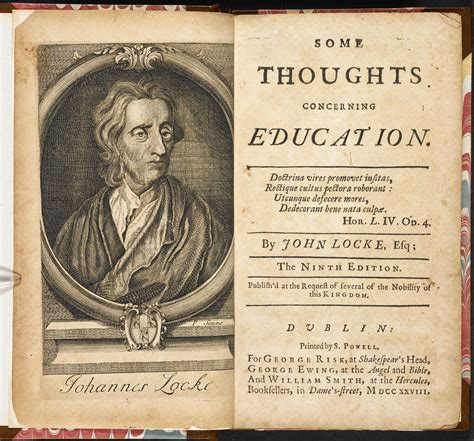some thoughts concerning education by locke the