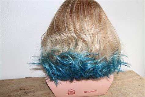 From Blue Dip Dye To Blonde Ombré Hair Hairandflair