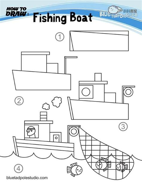 How To Draw A Boat Car by How To Draw Fishing Boat And Lots Of Other How To Draw
