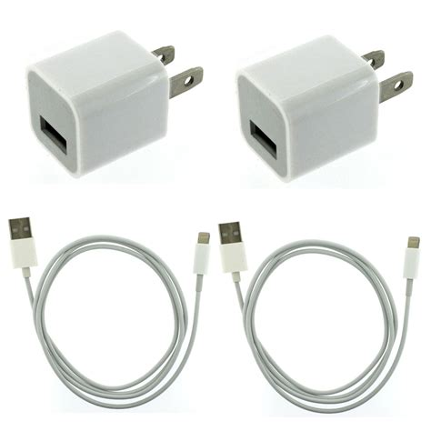 iphone charger 2x usb home ac wall charger 2x 8 pin data sync cable for