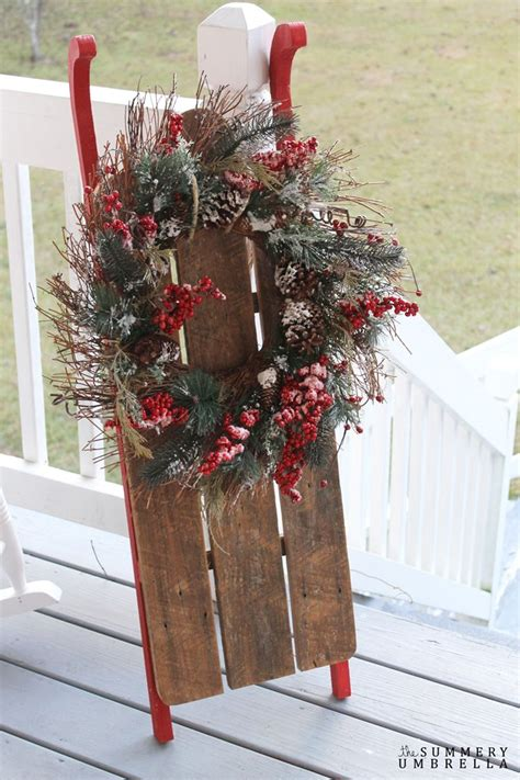 ideas  sled decor  pinterest christmas