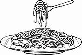 Spaghetti Coloring Pasta Pages Drawing Clipart Colouring Plate Sheet Noodle Dinner Noodles Cartoons Children Chicken Sketch Drawings Clip Cartoon Clipartix sketch template