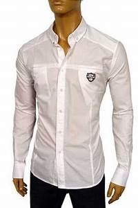 Mens Designer Clothes   VERSACE Men's Fitted Dress Shirt #121