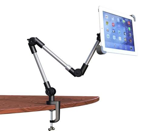 ipad pro desk stand armbot ipad tablet mount with quick load holder