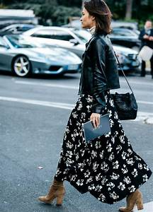 10 best ideas about maxi skirt winter on pinterest With robe fleurie noire