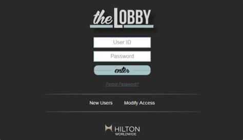 Hilton Lobby Login To Access Best Hotel