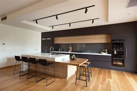 kitchen island bar height melbourne modern bar stool kitchen with timber island