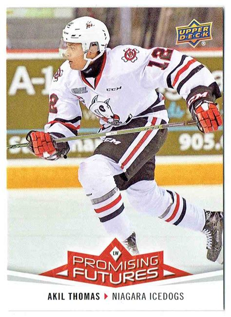 2017-18 Upper Deck UD CHL Promising Futures Akil Thomas # ...