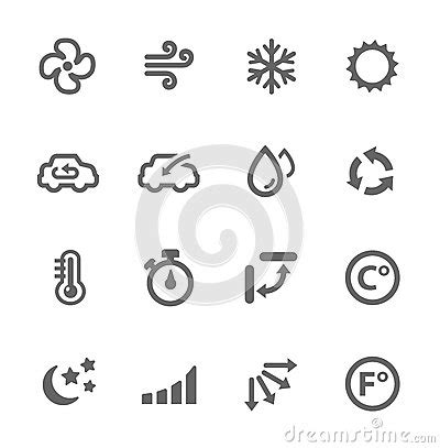 air conditioning icons stock images image