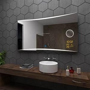 Uhr Für Badezimmer : vilnius spiegel badspiegel mit led beleuchtung mit kosmetikspiegel und touch ebay ~ Orissabook.com Haus und Dekorationen