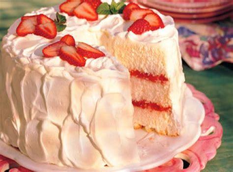 gateau des anges aux fraises   la rhubarbe recettes