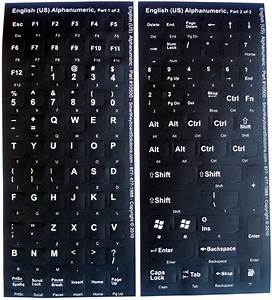replacement keyboard labels With logitech keyboard letter stickers