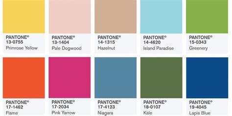 Nuancier Pantone Printemps 2017