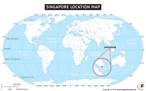 Singapore in world map