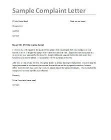complaint letter samples  word templates