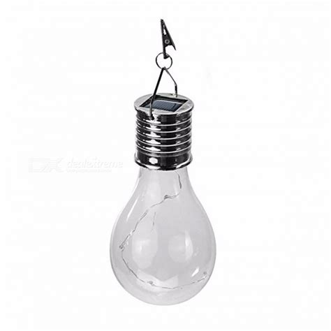 outdoor hanging solar powered led light bulb wireless