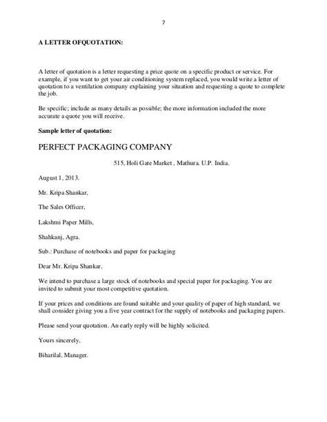 letter ofquotation quotation application format request