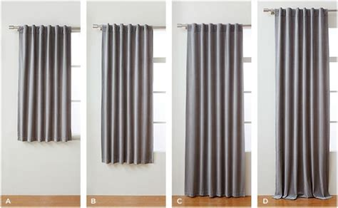 common curtain lengths window treatments