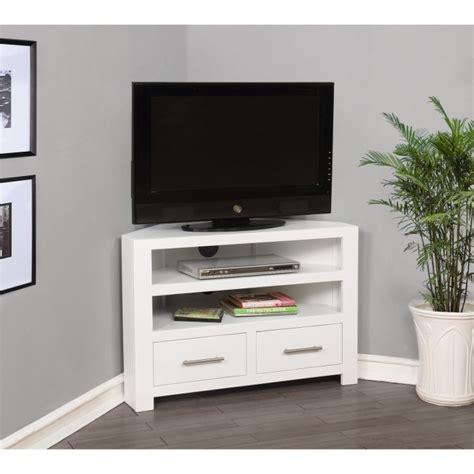 windsor painted white solid wood corner tv unit tv