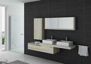 meuble de salle de bain double vasque scandinave gloss With meuble double vasque solde