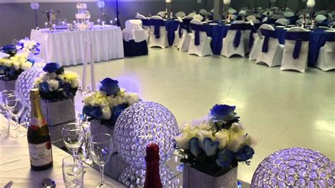 e halisi decor royal blue wedding decoration