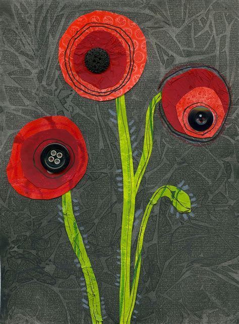pictures of remembrance day poppies that artist woman poppy mixed media