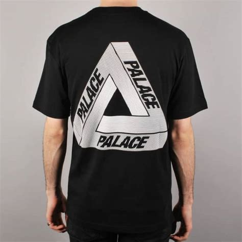 palace skateboards palace tri line skate t shirt black