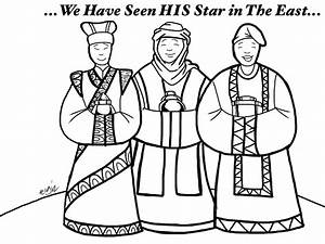 three wise men coloring page - star and wise men coloring page of