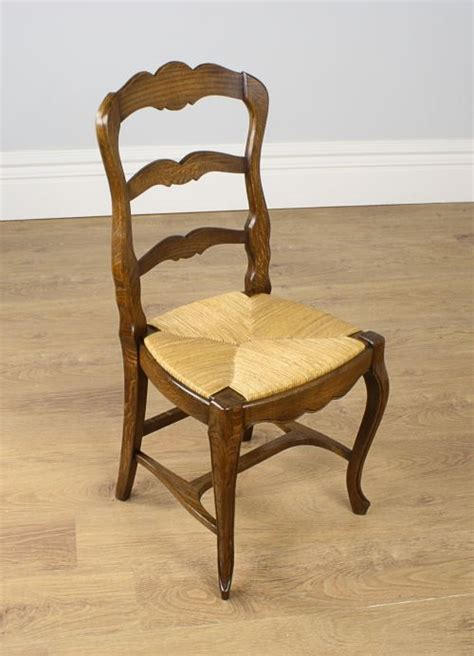 8 louis oak provincial ladder back dining chairs
