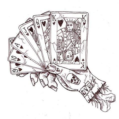 playing card drawings bing images playing card tattoos