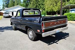 1969 Ford F100 Ranger Original Black Short Bed Pickup Truck